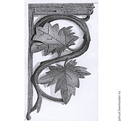 Картины и панно ручной работы. Ярмарка Мастеров - ручная работа Картина Деталь Интерьера рисунок карандашом графика серый резьба. Handmade.