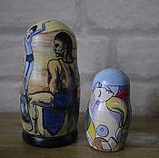 Русский стиль handmade. Livemaster - original item Dolls Girl on the ball. Handmade.