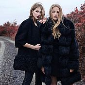 handmade. Livemaster - original item Fox fur coat in black. Handmade.