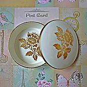 Винтаж ручной работы. Ярмарка Мастеров - ручная работа Wedgwood шкатулочка Gold Tonquin, Англия. Handmade.