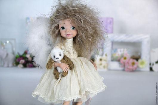"""Коллекционные куклы ручной работы. Ярмарка Мастеров - ручная работа. Купить Коллекционная кукла """"Ангелина"""". Handmade. Лимонный, ангел"""