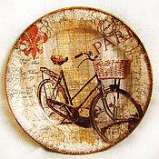 """Посуда ручной работы. Ярмарка Мастеров - ручная работа Тарелка """"Велосипедная прогулка"""". Handmade."""