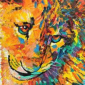 Картины и панно handmade. Livemaster - original item Picture of lion Simba: