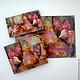 """Персональные подарки ручной работы. Ярмарка Мастеров - ручная работа. Купить комплект """"Бабочка""""3. Handmade. Подарок, обложка на паспорт, визитница"""