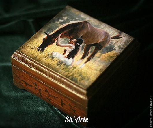 Шкатулка с лошадью Нежность
