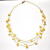 Necklace handmade. Livemaster - original item Amber. Beads