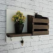 Для дома и интерьера handmade. Livemaster - original item Housekeeper organizer with shelf. Handmade.