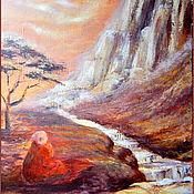 """Картины ручной работы. Ярмарка Мастеров - ручная работа Картина """"Золото гор"""" горы медитация. Handmade."""