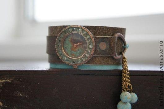 Часы ручной работы. Ярмарка Мастеров - ручная работа. Купить Часы. Handmade. Часы, аксессуары, замша, эксклюзив, кожа натуральная