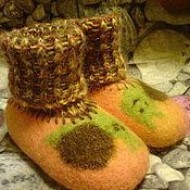 Одежда детская handmade. Livemaster - original item Booties felted baby Funny snail. Handmade.