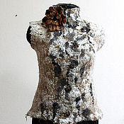 """Одежда ручной работы. Ярмарка Мастеров - ручная работа """"Кудрявые мечты"""" жилет. Handmade."""