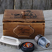 Для дома и интерьера handmade. Livemaster - original item Box for storage of brushes and Shoe Polish