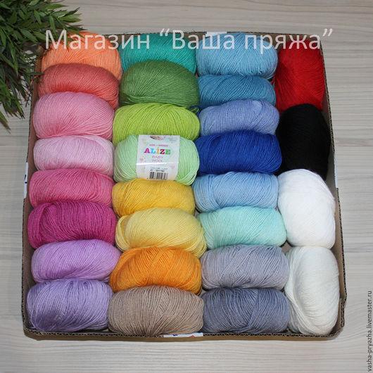 Вязание ручной работы. Ярмарка Мастеров - ручная работа. Купить Baby Wool (Alize). Handmade. Полушерстяная пряжа, детская пряжа