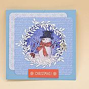 """Открытки ручной работы. Ярмарка Мастеров - ручная работа Открытка """"Christmas"""". Handmade."""