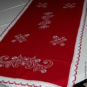 Для дома и интерьера handmade. Livemaster - original item Track on the table linen Zhavoronki. Handmade.