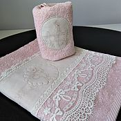 Для дома и интерьера handmade. Livemaster - original item SUMMER IN the COUNTRY - facial Terry towel. Handmade.
