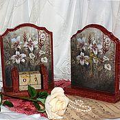 """Для дома и интерьера ручной работы. Ярмарка Мастеров - ручная работа Набор """"Лилии в старом саду"""". Handmade."""