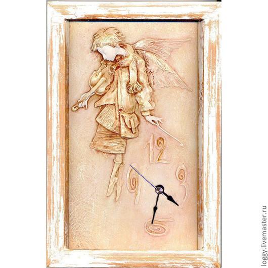 """Часы для дома ручной работы. Ярмарка Мастеров - ручная работа. Купить Часы """"Вечерний ангел"""". Handmade. Часы интерьерные"""