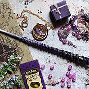 Субкультуры handmade. Livemaster - original item The author`s Magic wand Harry Potter purple gold. Handmade.