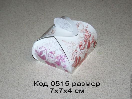 Коробочка подарочная (бонбоньерка) код 0515 размер 7х7х4 см
