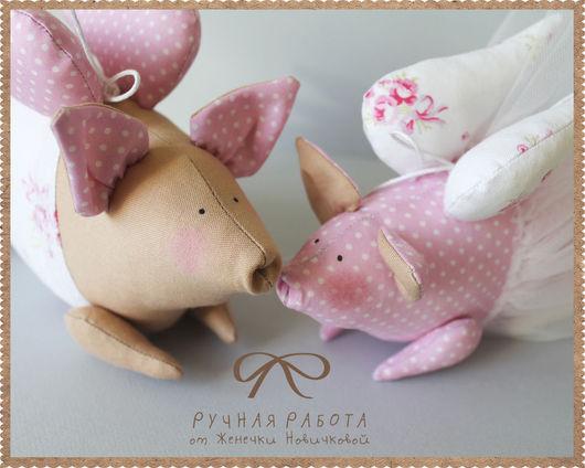 Куклы Тильды ручной работы. Ярмарка Мастеров - ручная работа. Купить Розовые свинки в стиле Тильда. Handmade. Розовый, поросенок