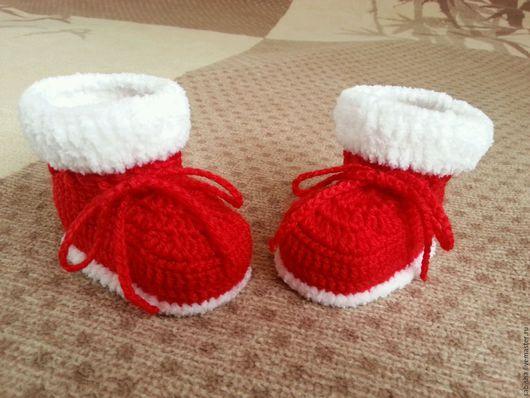 Детская обувь ручной работы. Ярмарка Мастеров - ручная работа. Купить Снежные пинетки. Handmade. Пинетки для девочки, зимние пинетки