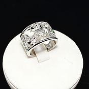 Кольца ручной работы. Ярмарка Мастеров - ручная работа Fortuna кольцо с натуральным самоцветом 2мм, серебро 925 пробы. Handmade.