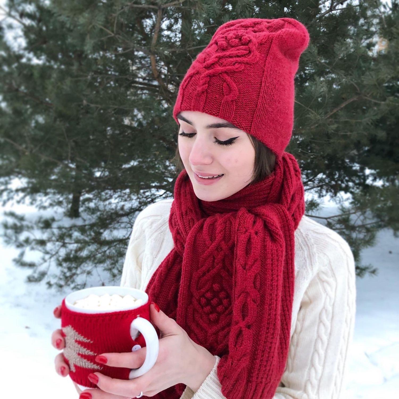 «Комплект мечты» шапка и шарф, Шапки, Москва,  Фото №1