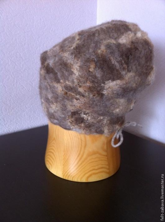 Шапки ручной работы. Ярмарка Мастеров - ручная работа. Купить Валяная шапка бежевая. Handmade. Бежевый, шерсть