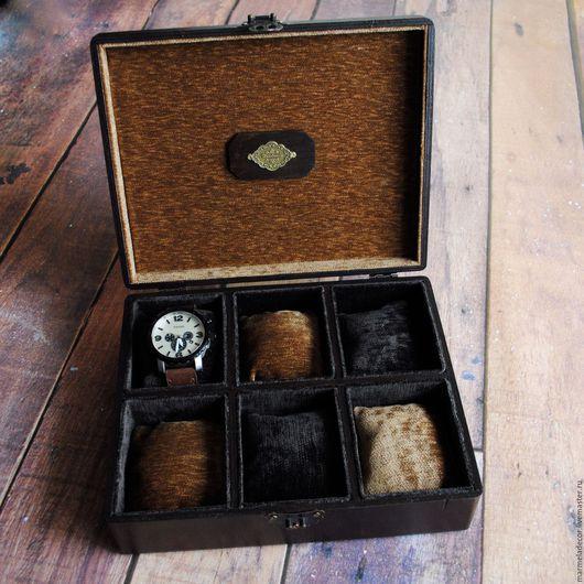 Шкатулки ручной работы. Ярмарка Мастеров - ручная работа. Купить Шкатулка для хранения мужских часов. Handmade. Комбинированный, часы, ткань