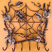 Для дома и интерьера ручной работы. Ярмарка Мастеров - ручная работа Ключница-паутинка. Handmade.