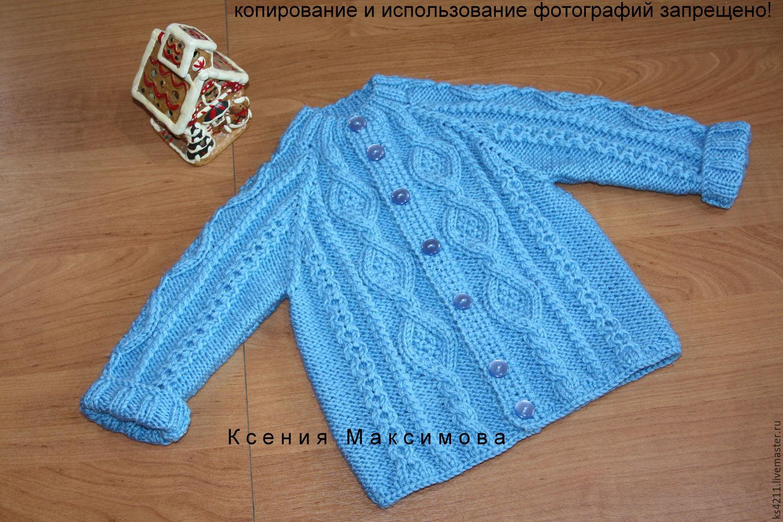 jacket 'Coral Reef' knitting ed. work, Sweater Jackets, Novokuznetsk,  Фото №1