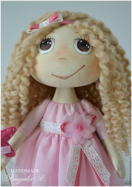 """Человечки ручной работы. Ярмарка Мастеров - ручная работа. Купить Текстильная кукла """"Розовое облачко"""". Handmade. Бледно-розовый, розовый"""