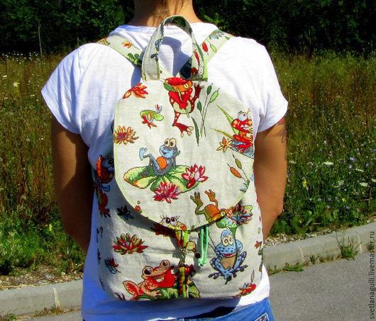 Рюкзаки ручной работы. Ярмарка Мастеров - ручная работа. Купить Гобеленовый рюкзак ЦАРЕВНА - ЛЯГУШКА. Handmade. Рюкзак гобеленовый, Гобелен