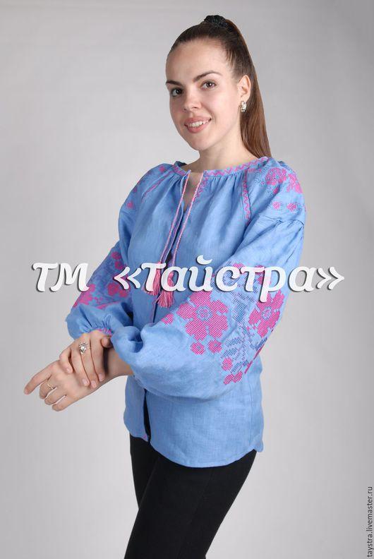 Блузки ручной работы. Ярмарка Мастеров - ручная работа. Купить Блузка вышитая  женская ,лен,бохо, этно стиль  Vita Kin,Bohemia. Handmade.