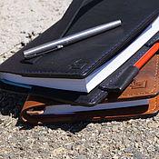 Канцелярские товары ручной работы. Ярмарка Мастеров - ручная работа ежедневник -блокнот -notebook черный. Handmade.