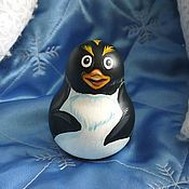 Куклы и игрушки handmade. Livemaster - original item Roly-poly Penguin Mac the adventures of penguin Lolo. Handmade.