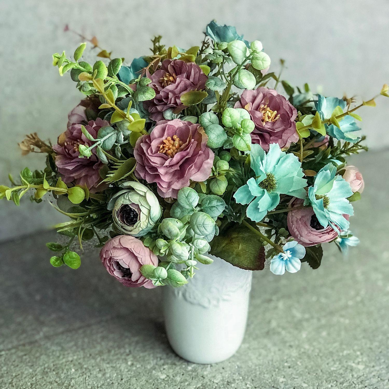 Интерьерный букет «Малышка», небольшой букетик, интерьерные цветы, Подарки, Москва, Фото №1