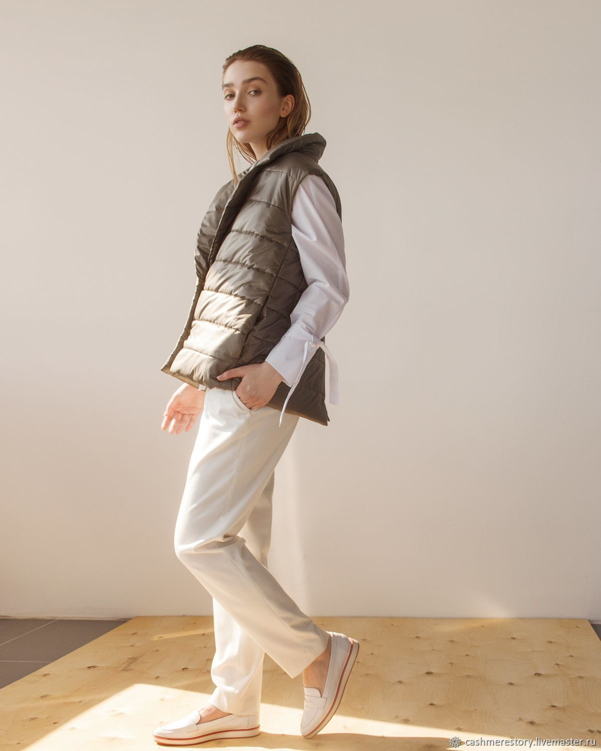 Women's insulated vest OlivaLi, Vests, Moscow,  Фото №1