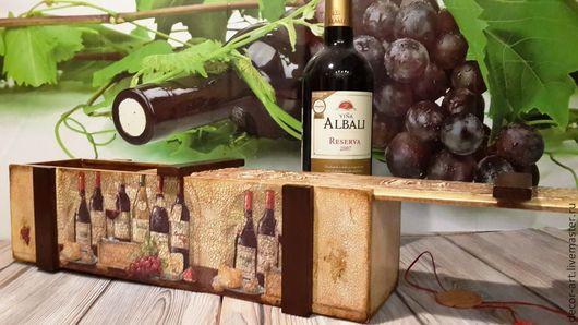 Короб для вина IN VINO VERITAS. \r\nАнастасия  (Decor-art)