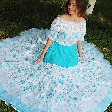 """Одежда ручной работы. Ярмарка Мастеров - ручная работа Шикарная летняя юбка """"Весна"""" Готовая работа или на заказ. Handmade."""