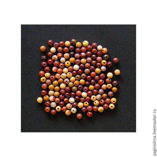 Для украшений ручной работы. Ярмарка Мастеров - ручная работа. Купить Яшма мукаит, бусины, мелкие бусины 3-3,5 мм, яшма мукаит. Handmade.