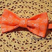 Аксессуары ручной работы. Ярмарка Мастеров - ручная работа галстук-бабочка Оранжевая. Handmade.