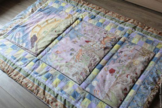 """Пледы и одеяла ручной работы. Ярмарка Мастеров - ручная работа. Купить детское одеяло в технике пэчворк """"Осенние мотивы""""лоскутное шитье. Handmade."""