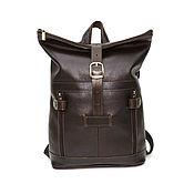 Сумки и аксессуары handmade. Livemaster - original item Backpack leather female brown alpha Mod R31-122. Handmade.