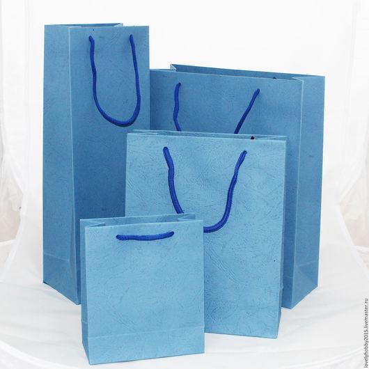 Подарочный пакет  Синий