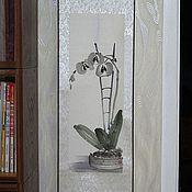 """Картины и панно ручной работы. Ярмарка Мастеров - ручная работа Свиток """"Орхидея"""". Handmade."""