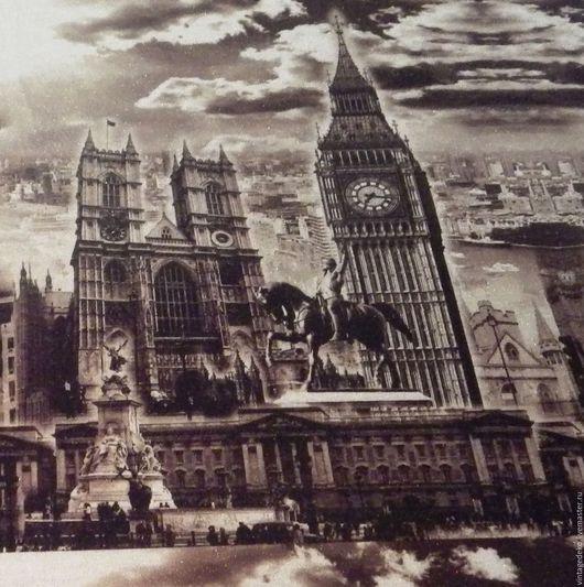 Шитье ручной работы. Ярмарка Мастеров - ручная работа. Купить Лондон, Биг-Бен - хлопоково-люрексовый купонный трикотаж. Handmade.