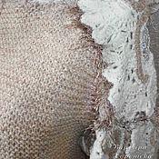 Одежда ручной работы. Ярмарка Мастеров - ручная работа Стильный короткий вязаный кардиган оверсайз в эко-тонах. Handmade.