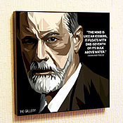 Картины и панно handmade. Livemaster - original item Picture poster of Sigmund Freud in the style of Pop art. Handmade.